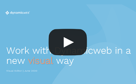 Work with Dynamicweb in a new visual way