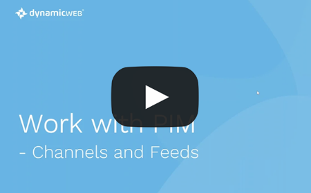 Work with PIM - Channels and feeds