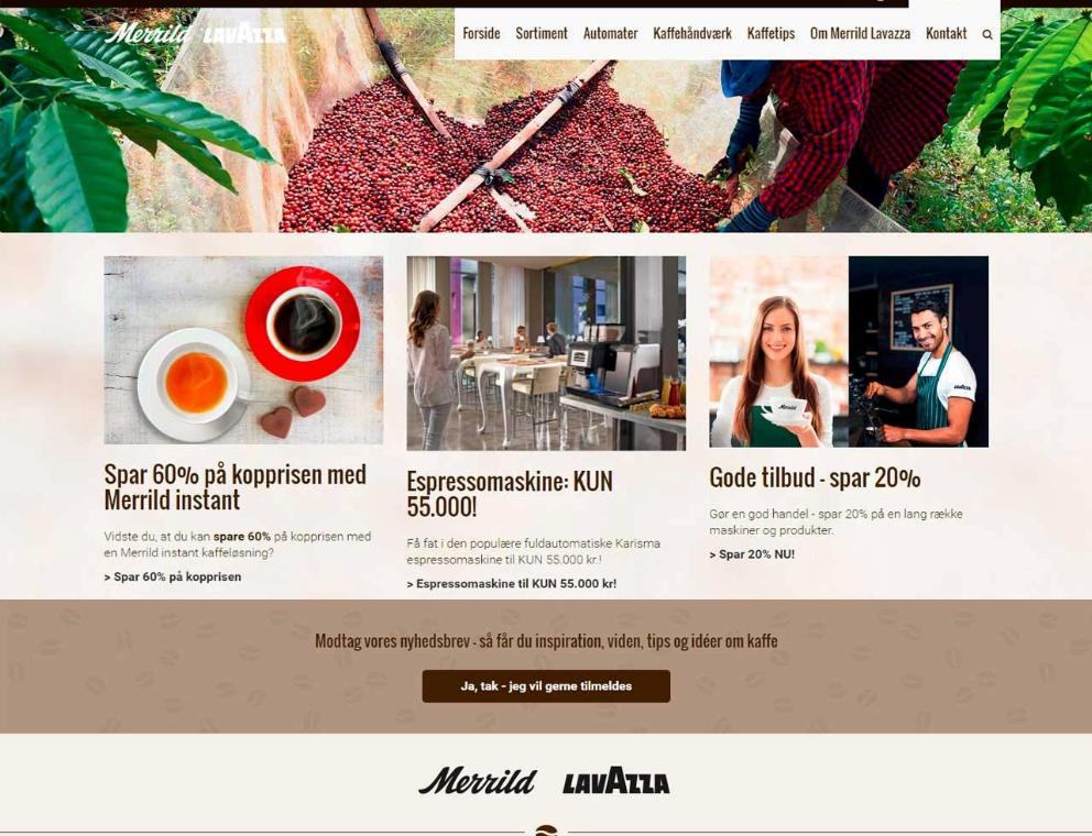Merrild Lavazza - Ecommerce with PIM and SAP 3b782938bd0c8